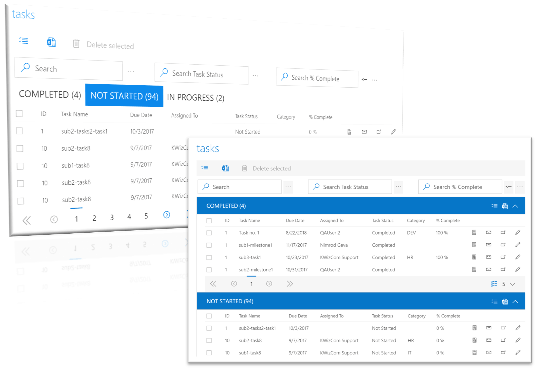 SharePoint tabs and groups