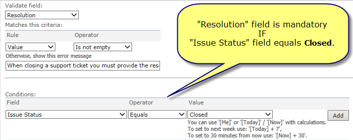 KWizCom SharePoint field-constraints-conditions