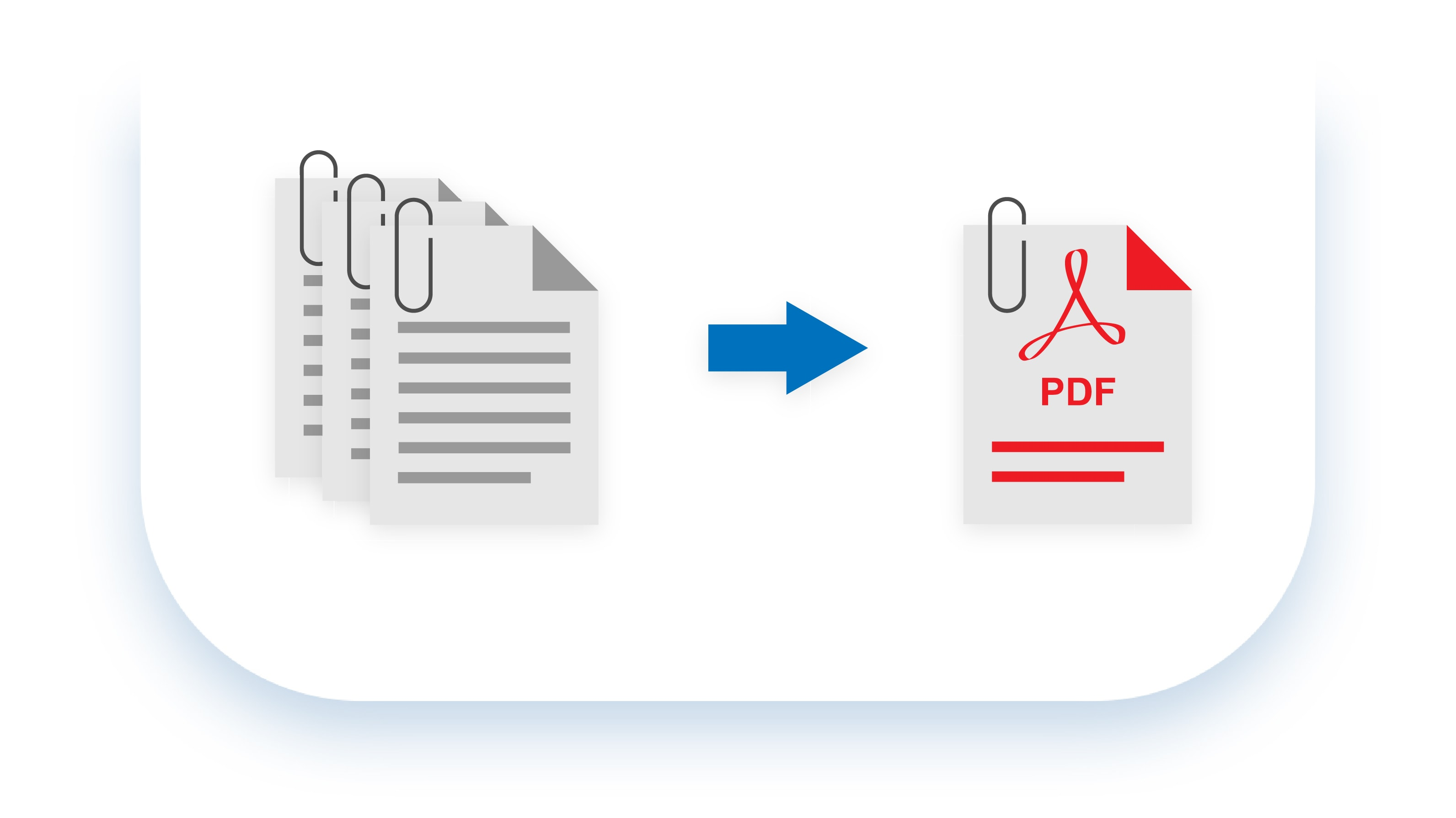 merge documents, convert into a .PDF file