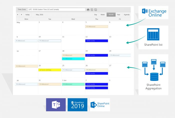 Calendar Plus for SharePoint Online and Microsoft Teams