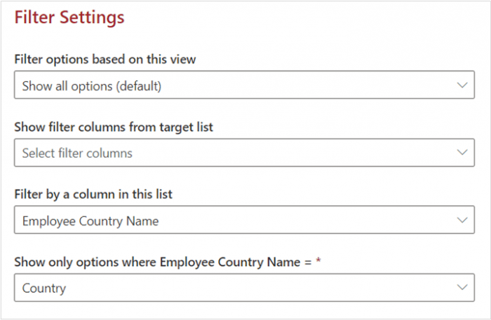 Implementing Cascading Lookup fields with KWizCom Forms